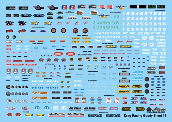 Drag Racing Goody Sheet 1 Decal 1 24 Or 1 25