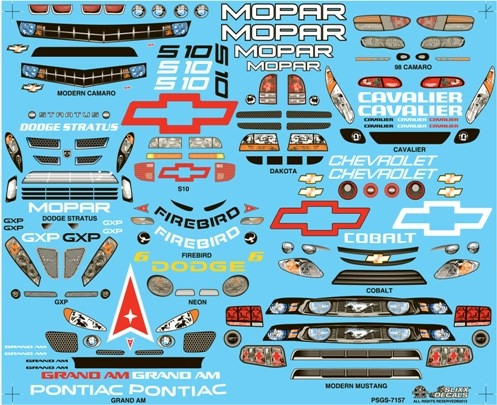 Pro Stock Grill Sheet Decal 1 25