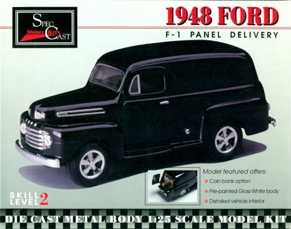 1948 Ford F 1 Panel Delivery Die Cast Metal Body 1 25 Si