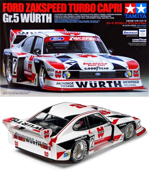 ford zakspeed turbo capri gr 5 wurth 1 24 fs. Black Bedroom Furniture Sets. Home Design Ideas