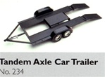 "Tandem Axle Car Hauler Trailer Diecast Kit (1/24) (fs)<br><span style=""color: rgb(255, 0, 0);"">Back in Stock</span>"