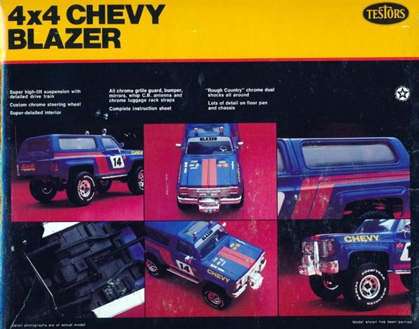 1980 Chevy Blazer 4 X 4 Snap Kit (1/24)