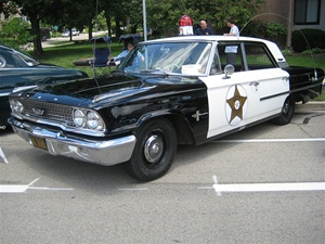"1963 Ford 4 door ""Mayberry"" Police Car (Resin Trans-kit)"