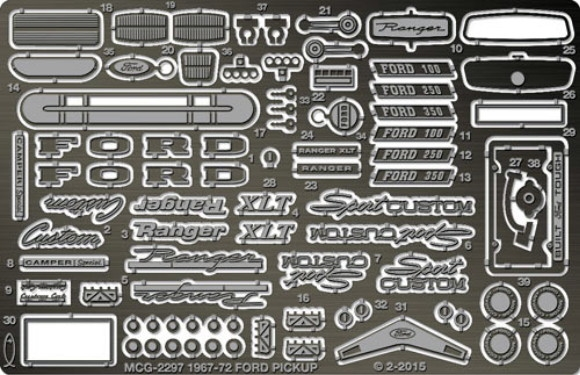 Aftermarket Car Parts >> 1967-1972 Ford F-100 Pickup Photo-Etch Detail Set for Moebius-Model King Kits