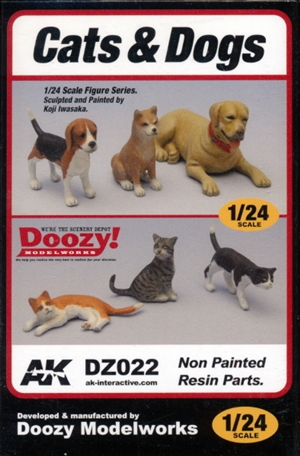 Cats and Dogs (3 of each) (1/24) (fs)