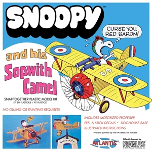 "Snoopy and his Sopwith Camel with Motor (fs)<br><span style=""color: rgb(255, 0, 0);"">Just Arrived</span>"