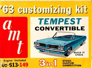 1963 Pontiac Tempest Convertible (3 'n 1) Stock, Custom or Competition (1/25)