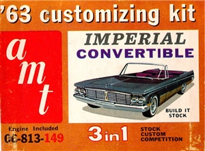 1963 Chrysler Imperial Convertible Kit (3 'n 1) Stock, Custom or Competition (1/25)