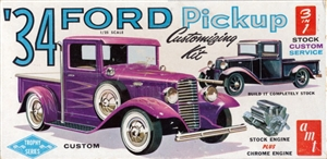 1934 Ford Pickup Customizing Kit (3 'n 1) Stock, Custom or Service (1/25) 1962 Issue