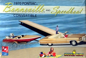 1970 Pontiac Bonneville Convertible and Speedboat with trailer (1/25) (fs)