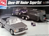Show-Off Hauler Superset with 1991 Chevy Stepside, 1957 Chevy Corvette Street Machine, and Display Case Trailer (1/25) (fs)