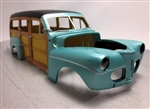 1941 Ford Woody Custom Shop Pre-Painted Turquoise (1/25) (fs)