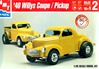 1940 Willys Coupe Street Rod  (4 'n 1)  (1/25) (fs)