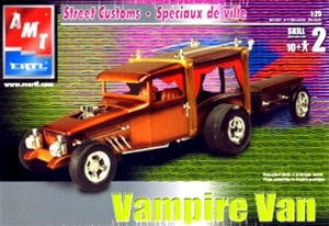Vampire Van Hot Rod Hearse with Coffin Trailer  (1/25) (fs)