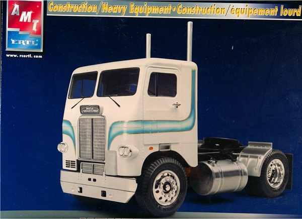 Semi Dump Trailers >> White Freightliner Single Drive Cabover (1/25) (fs)