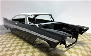 1958 Plymouth Belvedere ProShop Pre-Painted Black & White (1/25) (fs)