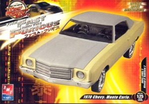 1970 Monte Carlo 2 'n 1 Build stock or lowrider version from 'Fast & Furious 3' Movie 1/25 kit