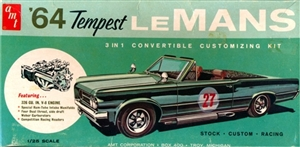 1964 Pontiac Tempest LeMans Convertible (3 'n 1) Stock, Custom or Racing (1/25)