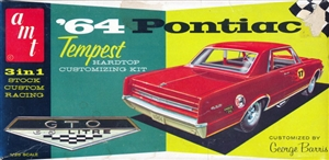1964 Pontiac Tempest Hardtop Customizing Kit (3 'n 1) Stock, Custom or Racing (1/25) RARE
