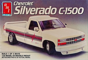 "1990 Chevy ""Silverado"" C-1500 Pickup  (3 'n 1) Street, Custom or Stock (1/25) (fs)"