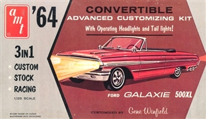 1964 Ford Galaxie 500XL Convertible With Working Lights (3 'n 1) Stock, Custom or Racing (1/25)