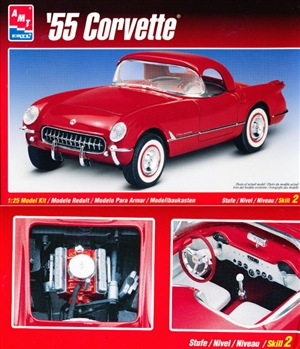 1955 Corvette Stock V-8 (1/25) (fs)