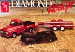 "1939 Ford Sedan ""Diamond in the Rough"" with '53 Ford Pickup & Dual Axle trailer (1/25) (fs)"