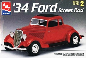1934 Ford 5 Window Coupe Street Rod (1/25) (fs)