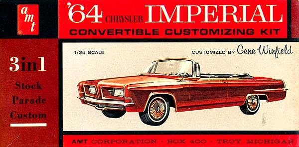 1964 chrysler imperial convertible kit  3  u0026 39 n 1  stock  custom or parade  1  25