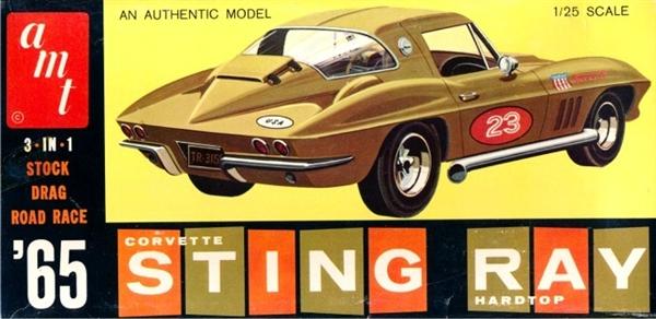 AMT 1:25 1:24 1980 Corvette Yellow Built Model