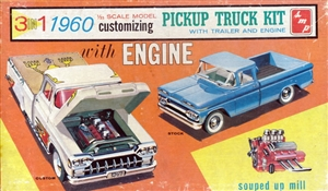1960 SMP Chevy Pickup Truck Kit (3 'n 1) Stock, Custom or Service (1/25) RARE