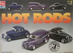 Hot Rods Set 1934 Ford Coupe, 1940 Ford Sedan Delivery, and 1937 Chevrolet Cabrolet (1/25) (fs)