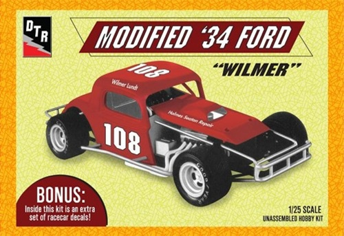1934 Ford Early Modified Racer #108 Wilmer Lundt (1/25) (fs)
