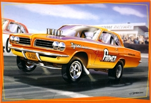 1963 Altered Wheelbase Pontiac Tempest Dragster 'Funny Farmer' Sean Svendsen Box Art  (1/25) (fs)