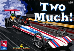 "Twin Engine Rail Dragster ""Two Much"" (1/25) (fs)"