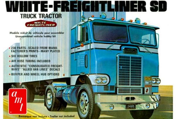 sc 1 st  Model Roundup & White Freightliner Single Drive Cabover (1/25) (fs)