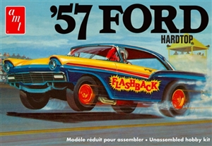 "1957 Ford Hardtop (3'n 1) Stock, Custom or ""Flashback"" Dragster  (1/25) (fs) Damaged Box"