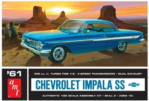 1961 Chevy Impala SS Hardtop (1/25) (fs) Damaged Box