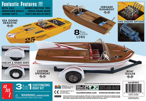1959 Customizing Speed Boat 3 N 1 Inboard Runabout