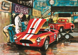 "AMT ""Cobra Racing Team""  Shelby 289 Cobra & 1953 Ford Pickup & Trailer (1/25) (fs)"