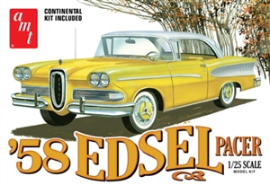 "1958 Edsel Pacer with fender Skirts and Continental kit (1/25) (fs) <br><span style=""color: rgb(255, 0, 0);"">Just Arrived</span>"