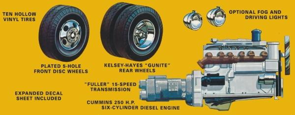 AMT 1099 1:25 AUTOCAR A64B Tractor