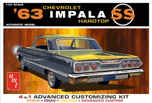 "1963 Chevy Impala SS Hardtop (4 'n 1) (1/25) <br><span style=""color: rgb(255, 0, 0);"">July, 2019</span>"