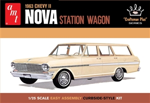 "1963 Chevy II Nova Station Wagon ""Craftsman Plus"" Series ""Retooled With Opening Hood!"" (1/25) (fs)  <br><span style=""color: rgb(255, 0, 0);"">June, 2021</span>"