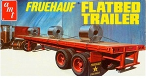 Fruehauf Flatbed Trailer with load  (1/25) (fs)