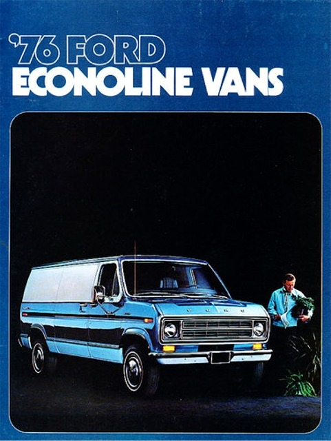 1976 Ford Econoline Custom Phantom Van 2 N 1 Stock Or