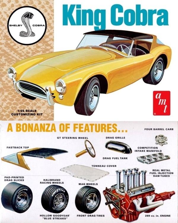 1963 Shelby Cobra 289 (4 'n 1) Stock, Street, Road Racing, Drag (1/25) (fs)