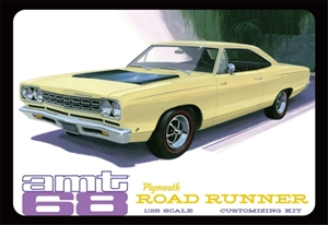 1968 Plymouth Roadrunner (Molded in White or Yellow) (1/25) (fs)