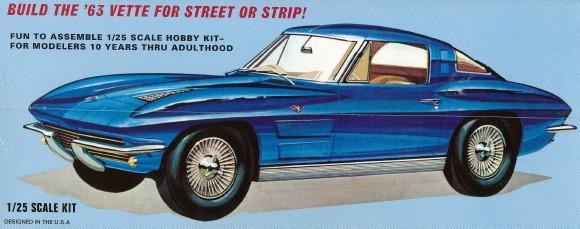 Premium Hobbies 1963 Corvette Sting Ray 1:25 Plastic Model Car Kit CP7728 AMT