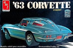 Split Window Corvette >> AMT 1963 Corvette Stingray Model Kit